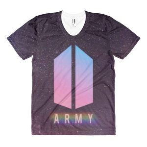 BTS Pastel Colored Army Logo Women Full Print T-Shirt