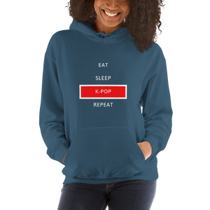 Eat Sleep K-Pop Repeat Unisex Hoodie