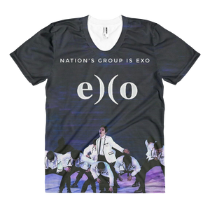 EXO In White Suits Nation's Group Women Full Print T-Shirt