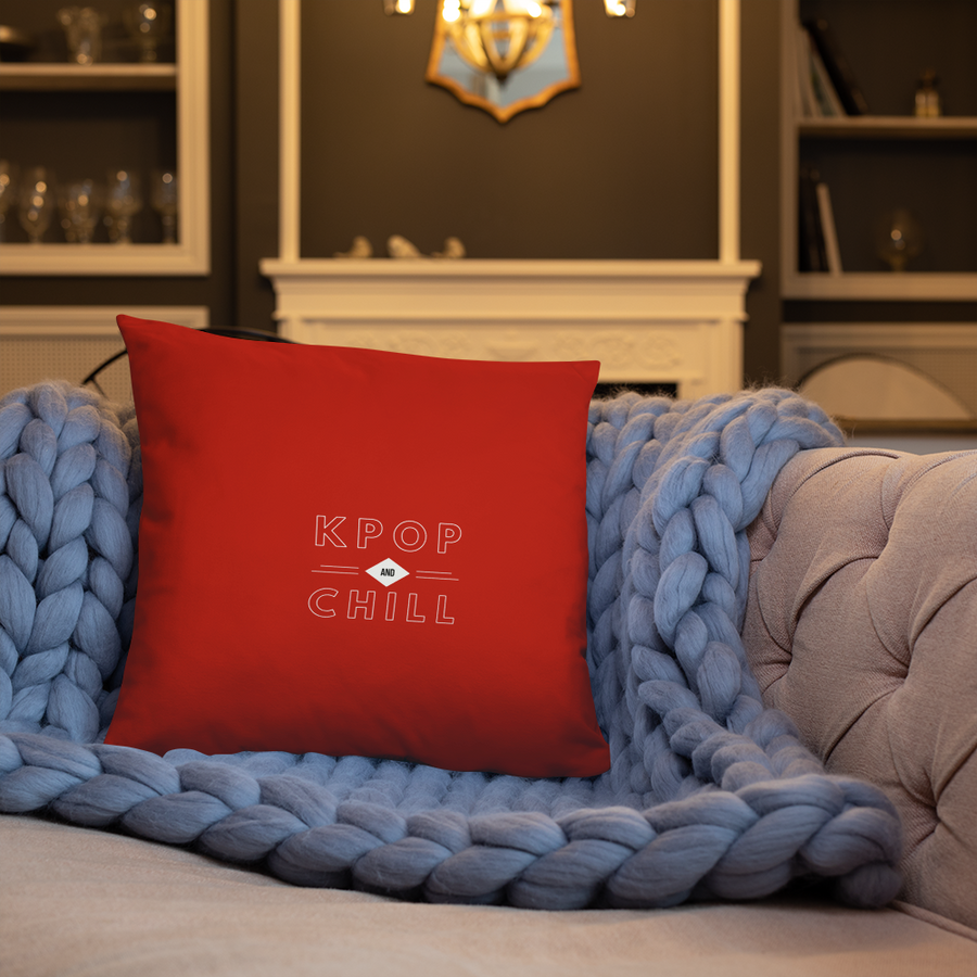 KPop And Chill Netflix Parody Throw Pillow
