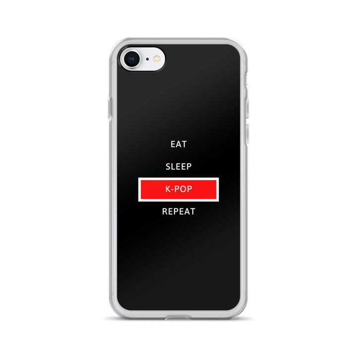 Eat Sleep K-Pop Repeat iPhone Case