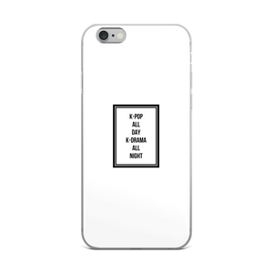 K-Pop All Day K-Drama All Night iPhone Case