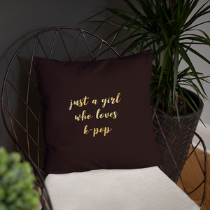 Just A Girl Who Loves K-Pop Throw Pillow