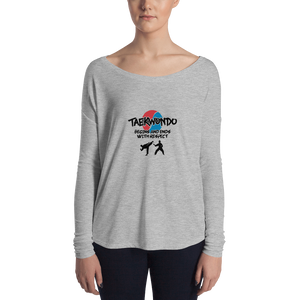 Taekwondo Begins and Ends with Respect Women Long Sleeve Tee