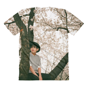 BTS Taehyung Sitting On A Tree Women Full Print T-Shirt