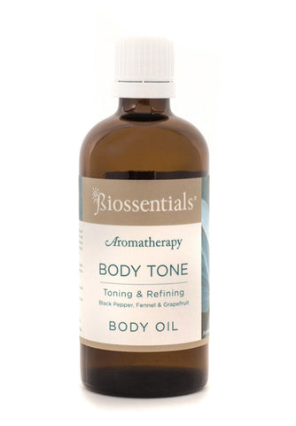 <strong>Biossentials Body & Massage Oil </strong><br/><strong>BODY TONE</strong><br/><p>    Black Pepper, Fennel, Grapefruit</p><div></div>