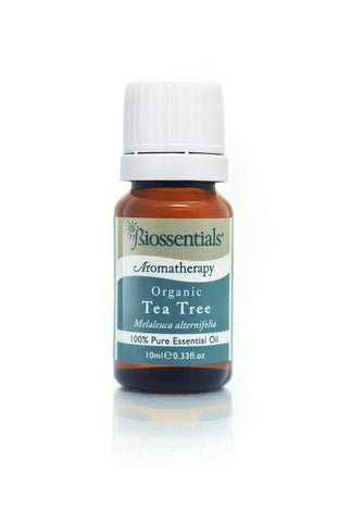 <strong>Biossentials 100% Pure Essential Oil </strong> <br/> <strong>TEA TREE ORGANIC</strong> <br/> <em>Melaleuca alternifolia</em>