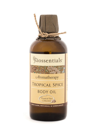 <strong>Biossentials Body & Massage Oil </strong><br/><strong>TROPICAL SPICE</strong><br/><p>    Frankincense, Patchouli, Sandalwood</p>