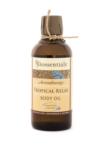 <strong>Biossentials Body & Massage Oil </strong><br/><strong>TROPICAL RELAX</strong><br/><p>    Ho Leaf, Cedarwood, Vetiver</p>