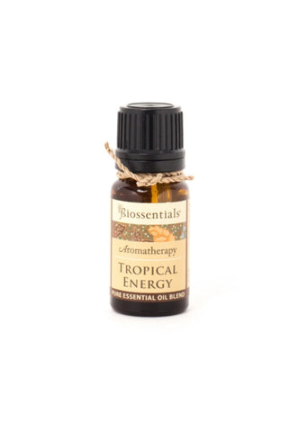 <strong>Biossentials Essential Oil Blend </strong> <br/> <strong>TROPICAL ENERGY</strong> <br/> <p>     Lemongrass, Ginger, Lime </p>