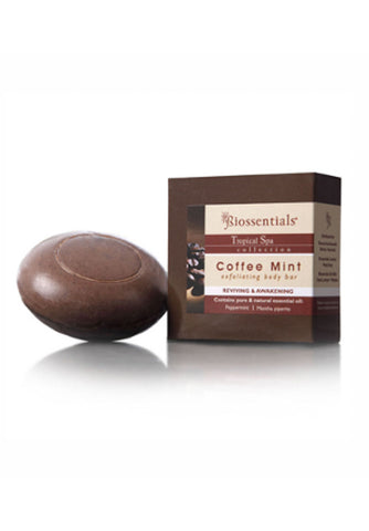 <strong>Biossentials Body Care</strong><br/><strong>COFFEE MINT</strong><br/><strong>Exfoliating Body Bar </strong>