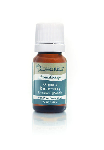 <strong>Biossentials 100% Pure Essential Oil</strong><br/><strong>ROSEMARY ORGANIC</strong><br/><em>Rosmarinus officinalis</em>