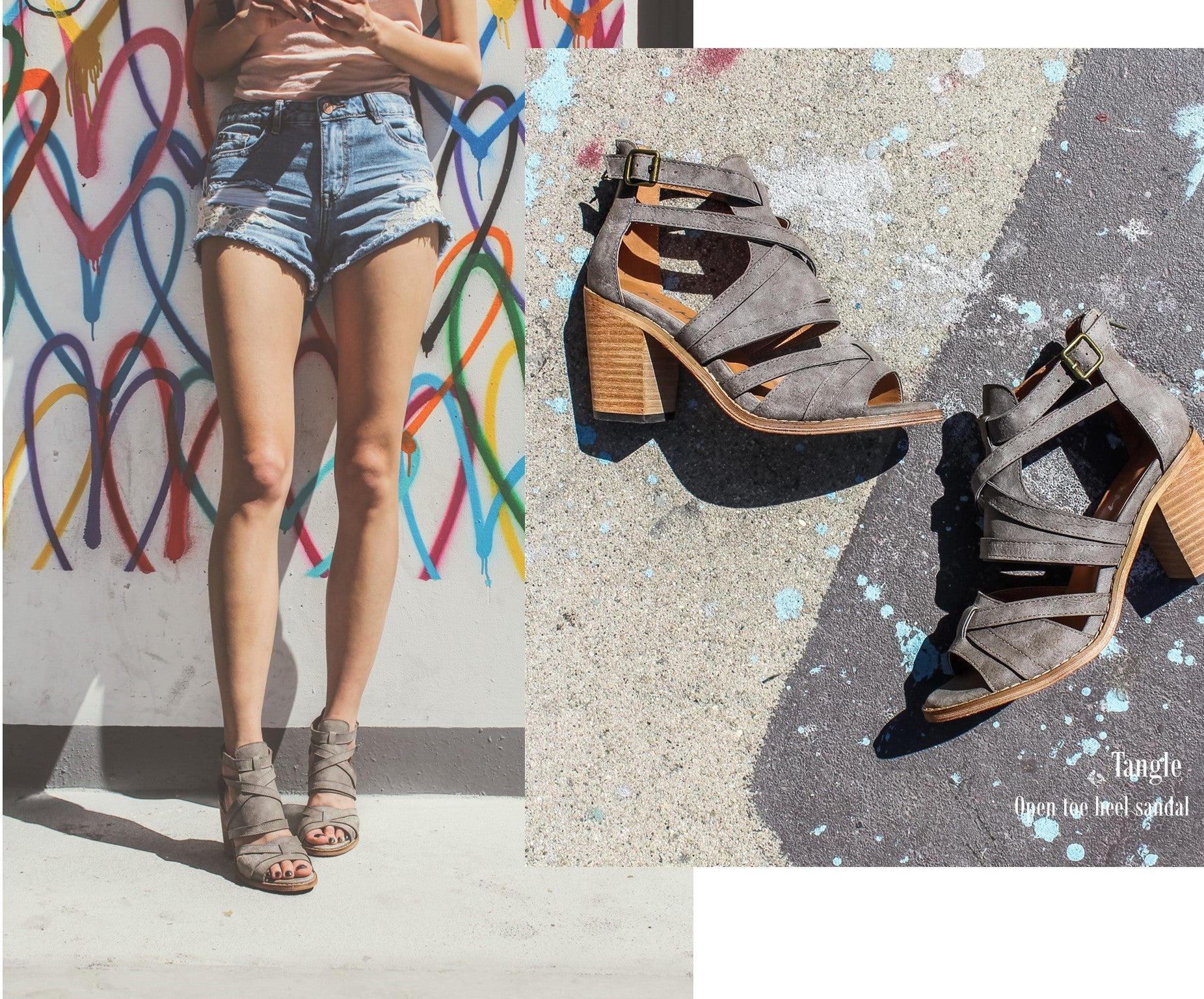 MiiM May Lookbook | Tangle Stacked Heel