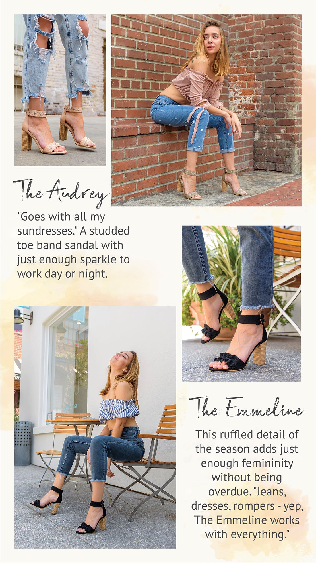Mi.iM Summer Heels: The Audrey, The Emmeline