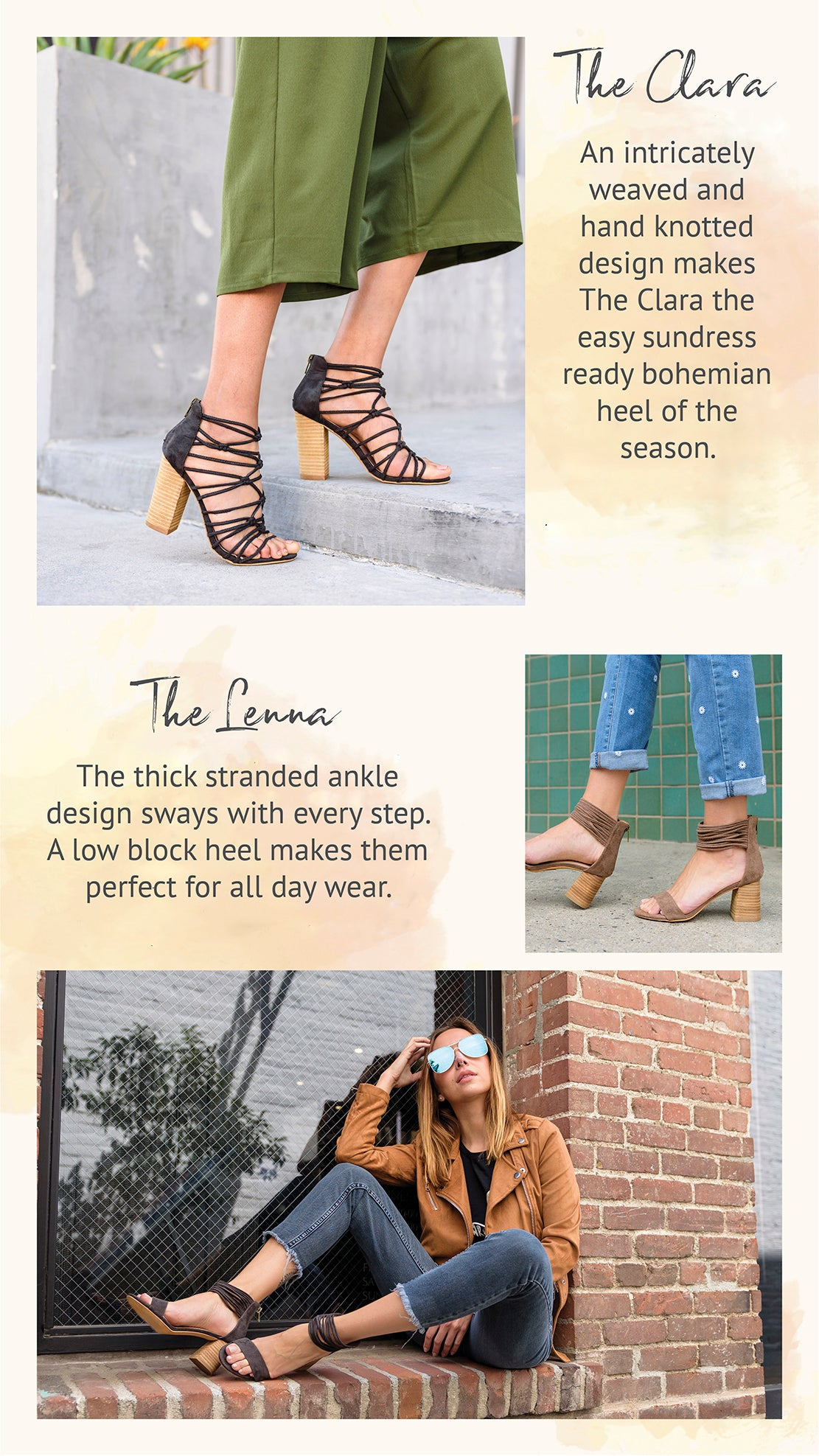 Mi.iM Summer Heel: The Clara, The Lenna