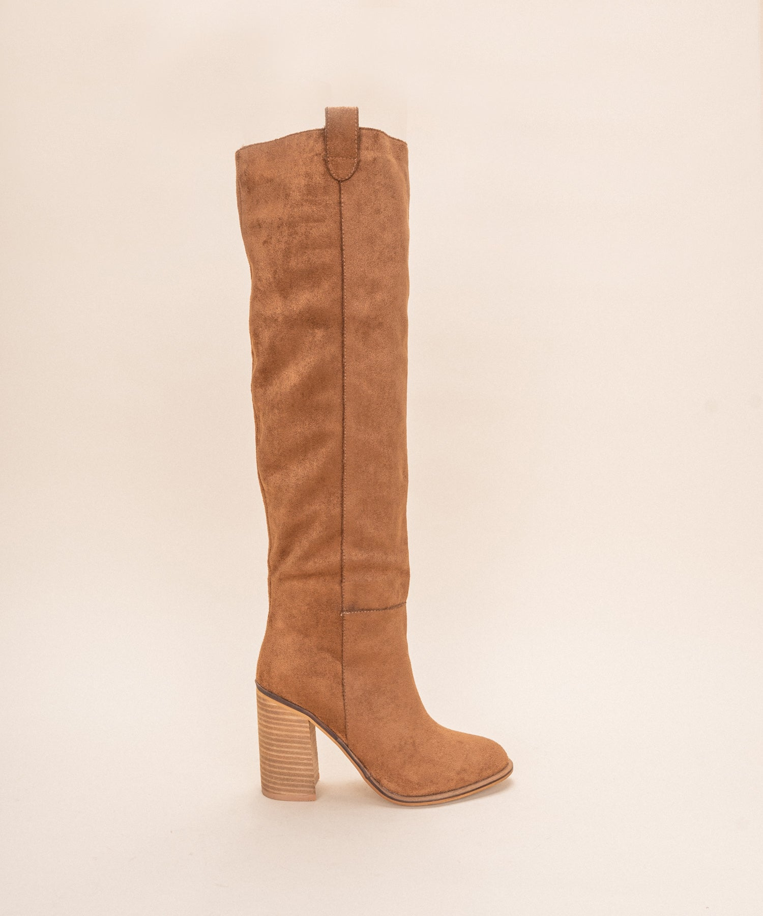 Saint •  Box Cut Block Heel Boot