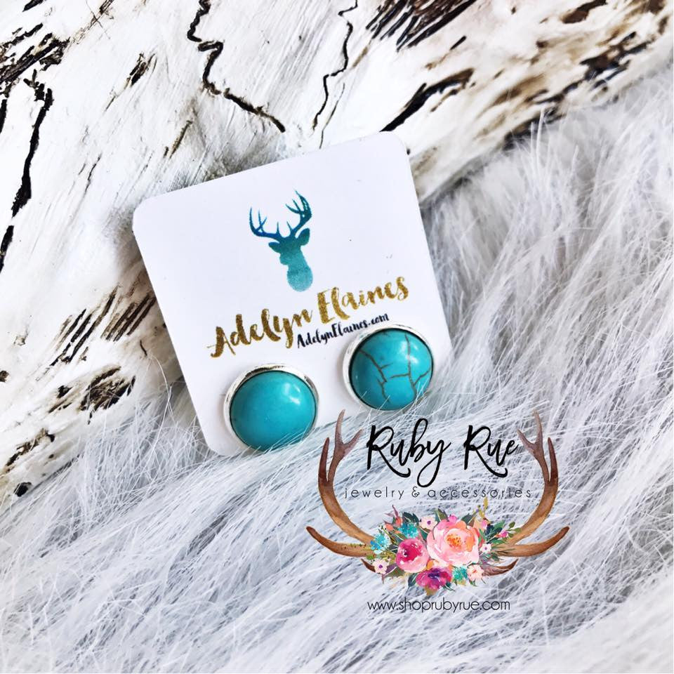Turquoise Earring Set - Ruby Rue Jewelry & Accessories