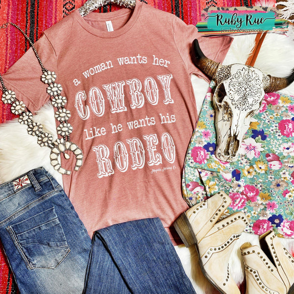 A Women Wants Her Cowboy Graphic Tee - Ruby Rue Jewelry & Accessories