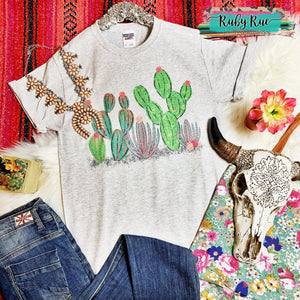 Stuck On You Cactus Graphic Tee - Ruby Rue Jewelry & Accessories