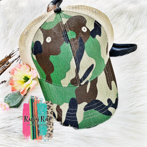 Camo Snapback Hat - Ruby Rue Jewelry & Accessories