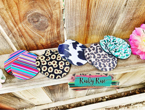 Neoprene Car Coaster Sets - Ruby Rue Jewelry & Accessories
