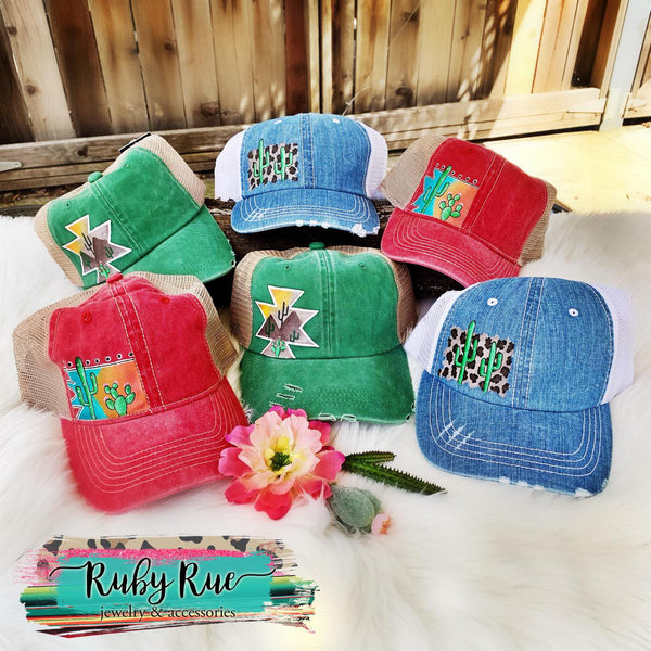 Hand Painted Hats - Ruby Rue Jewelry & Accessories