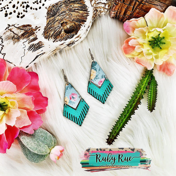Handmade Leather Earrings - Ruby Rue Jewelry & Accessories