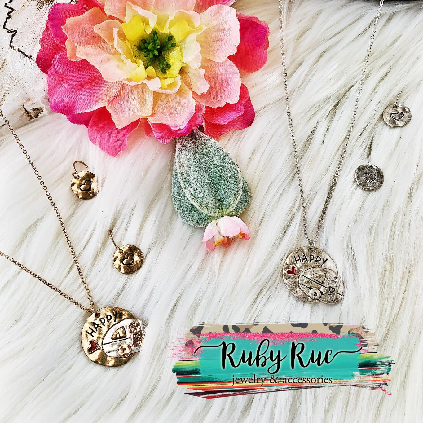Happy Camper Necklace - Ruby Rue Jewelry & Accessories