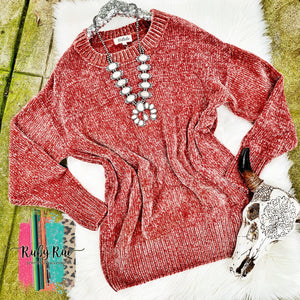 Oversized Chenille Sweater - Ruby Rue Jewelry & Accessories