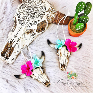 Bullhead Rear View Mirror Hangers - Ruby Rue Jewelry & Accessories