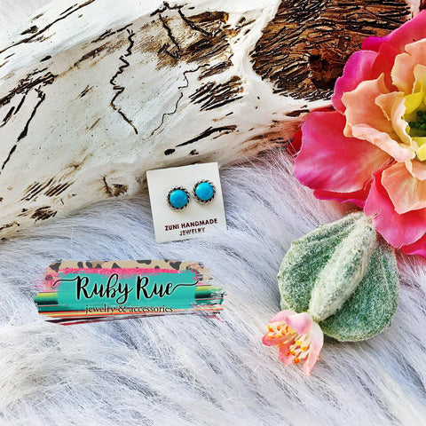 Authentic Turquoise Studs - Ruby Rue Jewelry & Accessories
