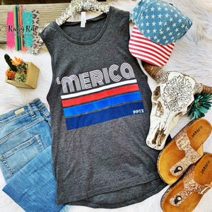 'Merica Stripes Tank - Ruby Rue Jewelry & Accessories