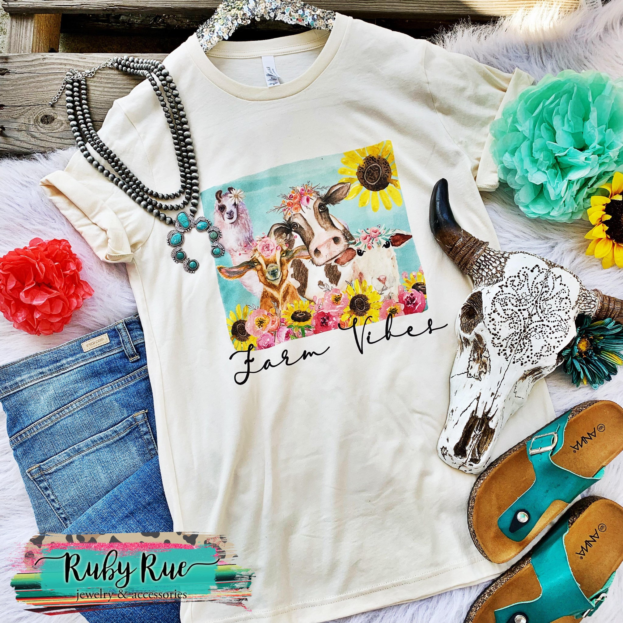 Farm Vibes Boho Tee - Ruby Rue Jewelry & Accessories