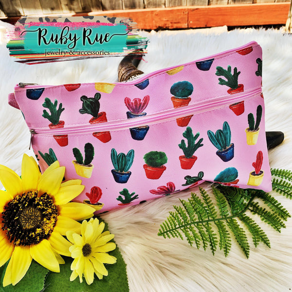 Western Cosmetic Pouch - Ruby Rue Jewelry & Accessories