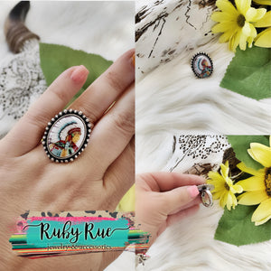 Native Strech Ring - Ruby Rue Jewelry & Accessories