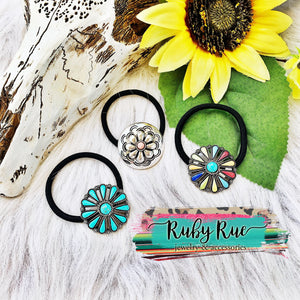 Western Concho Hair Ties
