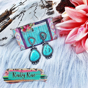 Charli Turqouise Earrings - Ruby Rue Jewelry & Accessories