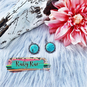Harper Turquoise Earrings - Ruby Rue Jewelry & Accessories