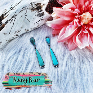 Amaiya Turquoise Earrings - Ruby Rue Jewelry & Accessories
