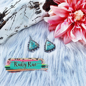 Olivia Turquoise Earrings - Ruby Rue Jewelry & Accessories