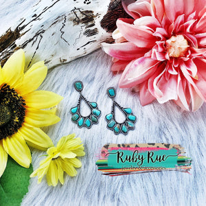 Ana Turquoise Earrings - Ruby Rue Jewelry & Accessories