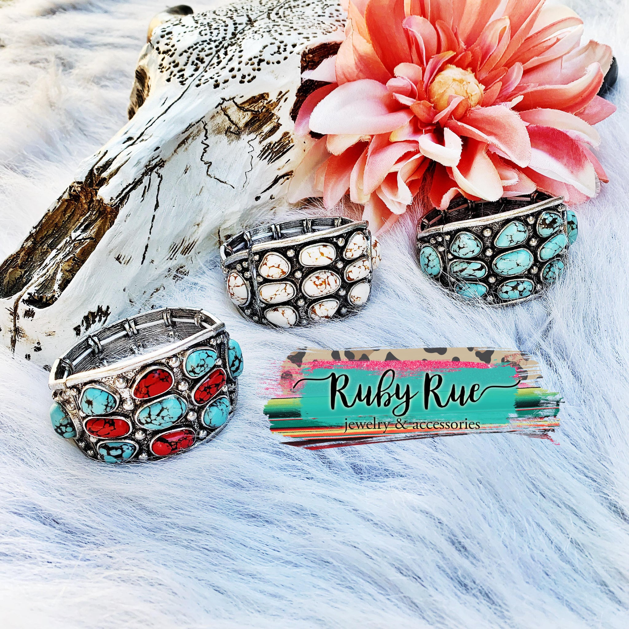 Western Stretch Bracelet - Ruby Rue Jewelry & Accessories