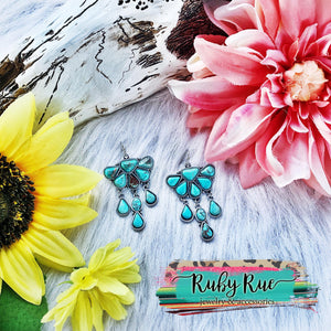 Elaina Turquoise Earrings - Ruby Rue Jewelry & Accessories