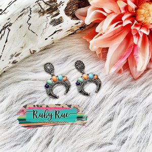 Southern Girl Concho Earrings - Ruby Rue Jewelry & Accessories