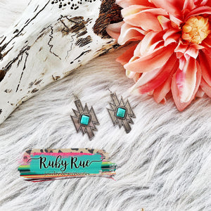 Idaho Aztec Earrings - Ruby Rue Jewelry & Accessories
