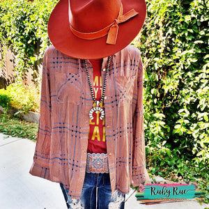 Pumpkin Spice Button Up - Ruby Rue Jewelry & Accessories