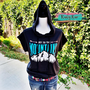 Off to the Mountains Hooded Top - Ruby Rue Jewelry & Accessories