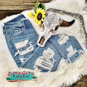 The Peyton Crop Jeans - Ruby Rue Jewelry & Accessories