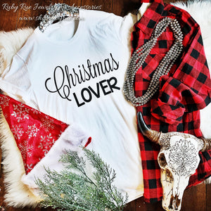 Christmas Lover Tee - Ruby Rue Jewelry & Accessories