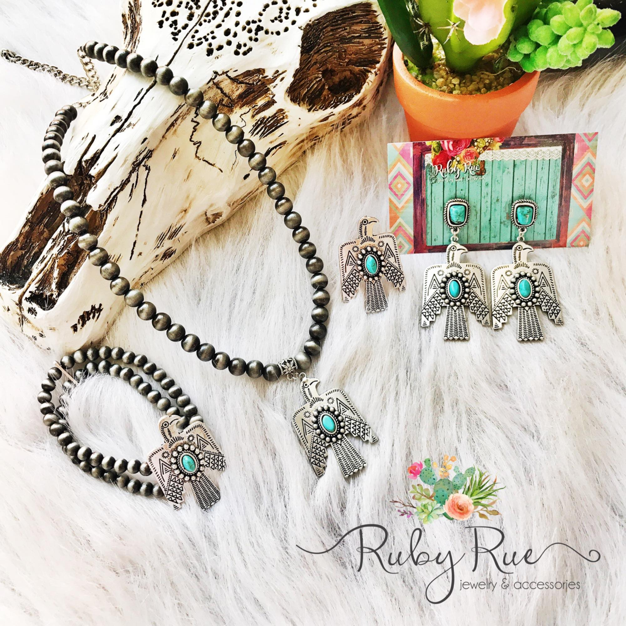 Silver Thunderbird Necklace - Ruby Rue Jewelry & Accessories